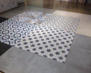 Cementine esagonali piastrelle esagonali bagno bianco cementine